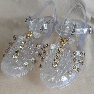 Cape Robbins Clear Jelly Sandles